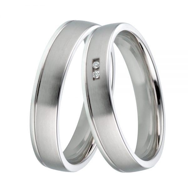 Trauringe 925/- Silber mit Brillanten