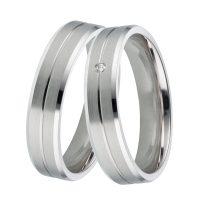 Trauringe 925/- Silber mit Brillant
